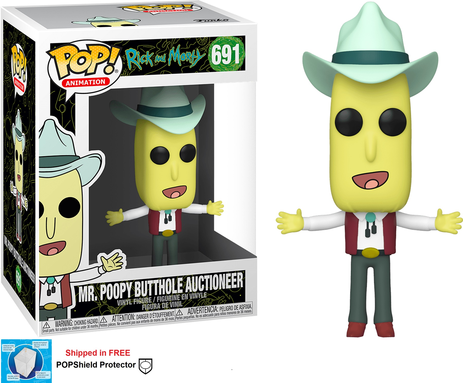 Funko POP Animation Rick and Morty Mr. Poopy Butthole Auctioneer
